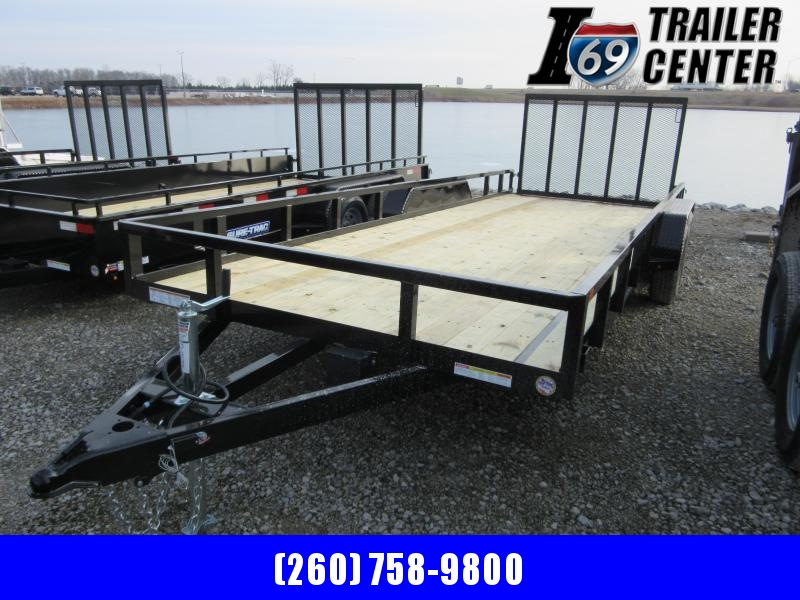 2021 Sure-Trac 7 x 20 tube top utility 7K tandem axle Utility Trailer