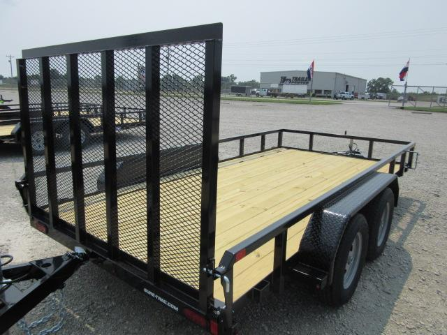 2021 Sure-Trac 7 x 16 Tube Top Utility Trailer  7K Tand