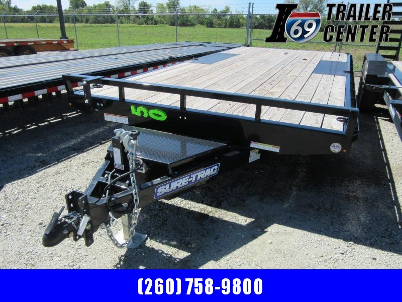 2019 Sure-Trac 8.5 x 18 flat deck deckover 10K Flatbed Trailer