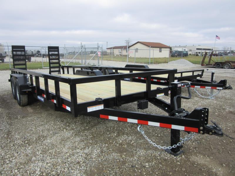 2021 Sure-Trac 7 x 20 (18+2) Heavy Duty Equipment Trail