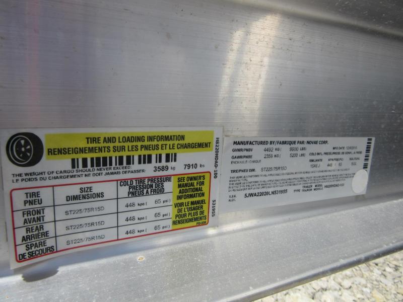 2020 H and H Trailer 82x18+2 Aluminum Car Hauler Trailer 10K (H8220HDAD-100) Car / Racing Trailer