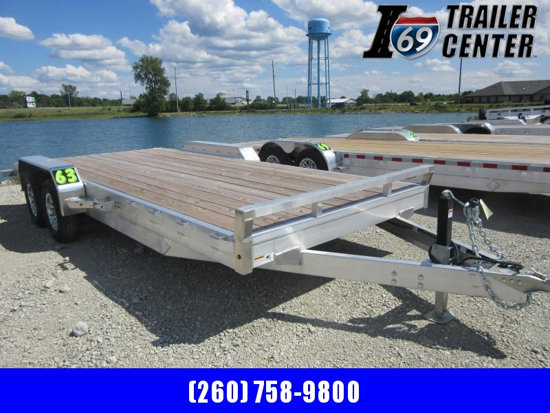 2020 H and H Trailer 82x18+2 Aluminum Car Hauler Trailer 10K (H8220HDAD-100) Car / Racing Trailer