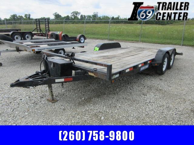 2015 Sure-Trac 16 + 2 wood deck Steel car hauler Car / Racing Trailer