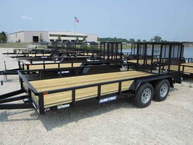 2021 Sure-Trac 7 x 14 Tube Top Utility Trailer  7k Tand