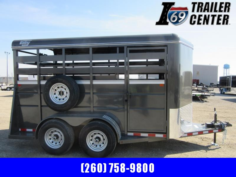 "2021 Valley Trailers 14' x 6'8"" x 7' Stock (26814) Livestock Trailer"