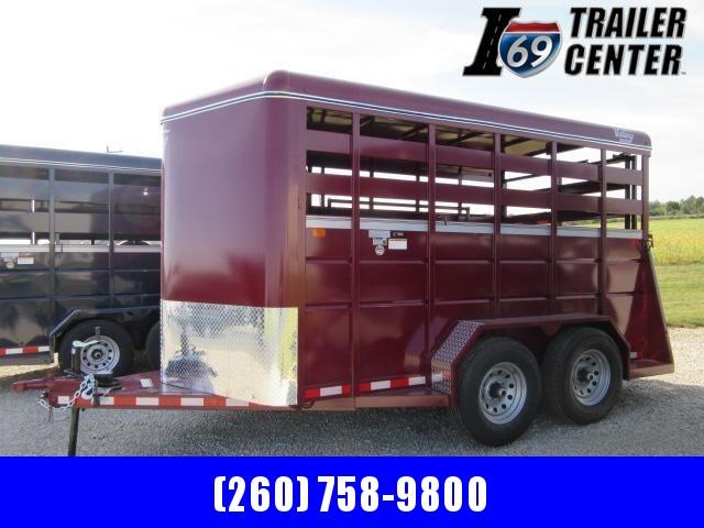 "2022 Valley Trailers 14' x 6'8"" x 7' Stock (26812) Livestock Trailer"