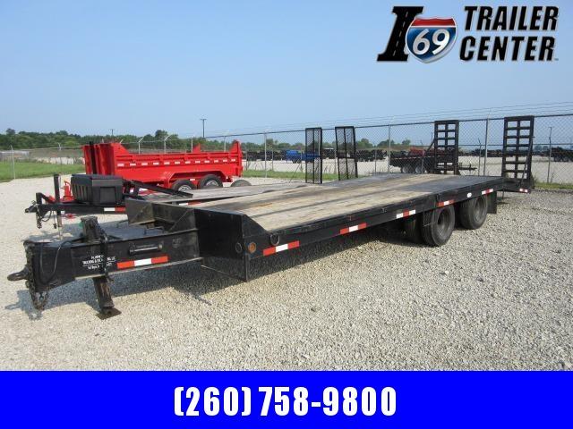 1993 Interstate 102 x 20+5 20 K deckover pintle Equipment Trailer