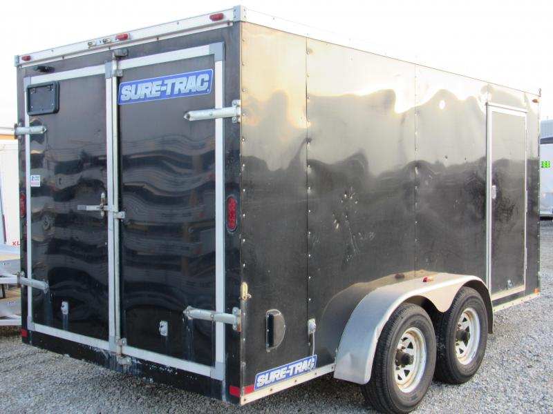 Sure-Trac 7 x 14 TA Pro Series Wedge Front Cargo Enclosed Cargo Trailer