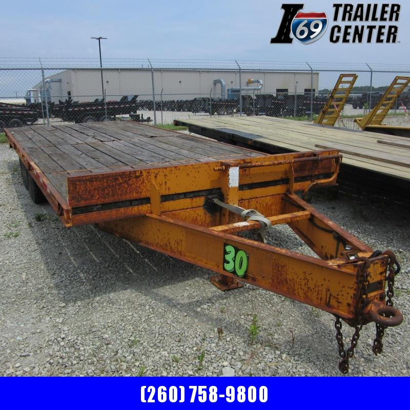 2001 Econoline 12k deckover Equipment Trailer pintle