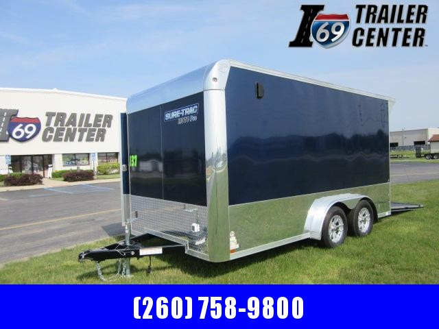 2021 Sure-Trac STBNMP9014TA ENCLOSED Motorcycle Trailer