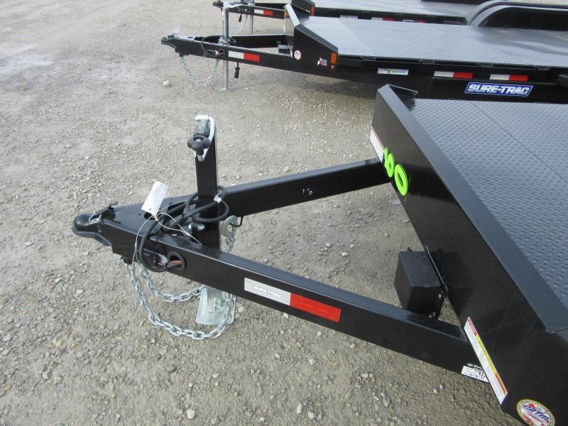 2021 Sure-Trac 7 x 20 (16+4) Steel Deck Car Hauler Trai
