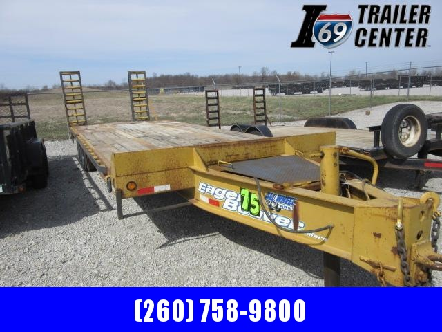 2001 Eager Beaver 20 + 5 40K Airbrake deckover Pintle Equipment Trailer