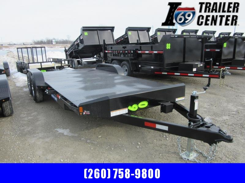 2021 Sure-Trac 7 x 20 (16+4) Steel Deck Car Hauler Trai