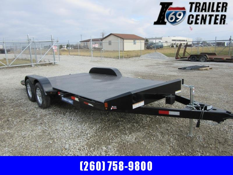 2021 Sure-Trac 7 x 18 (14+4) 7K Steel Deck Car Hauler Trai