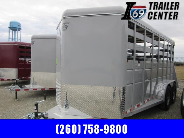 "2021 Valley Trailers 18' x 6'8"" x 7' Stock (26818) Livestock Trailer"