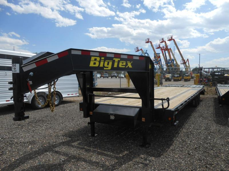 2021 Big Tex 14GN-25+5MR Gooseneck Flatbed Trailer w/ MEGA RAMPS