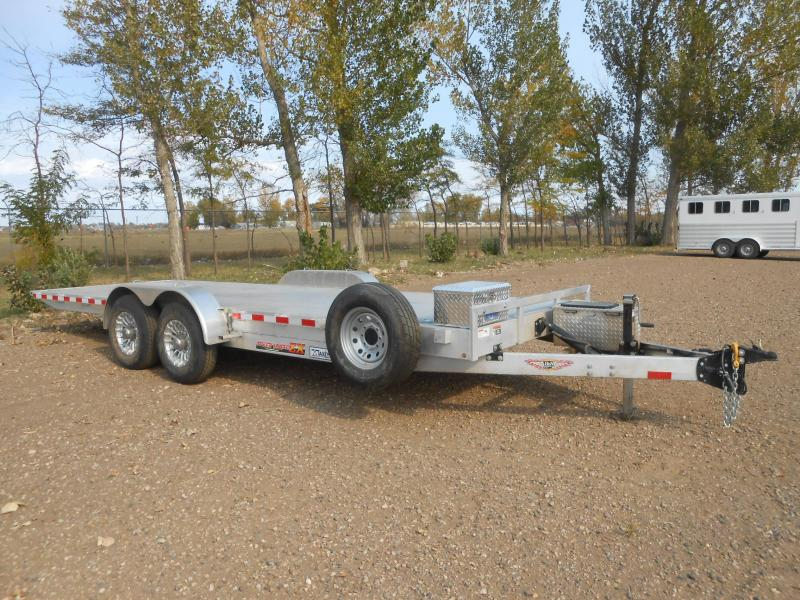 2019 H and H Trailer H8222EXA-14C Aluminum Speed Loader EX Power Tilt Equipment Trailer