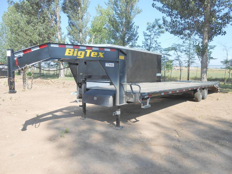 2020 Big Tex Trailers 16GN-25+5MR Flatbed Trailer w/ MEGA RAMPS