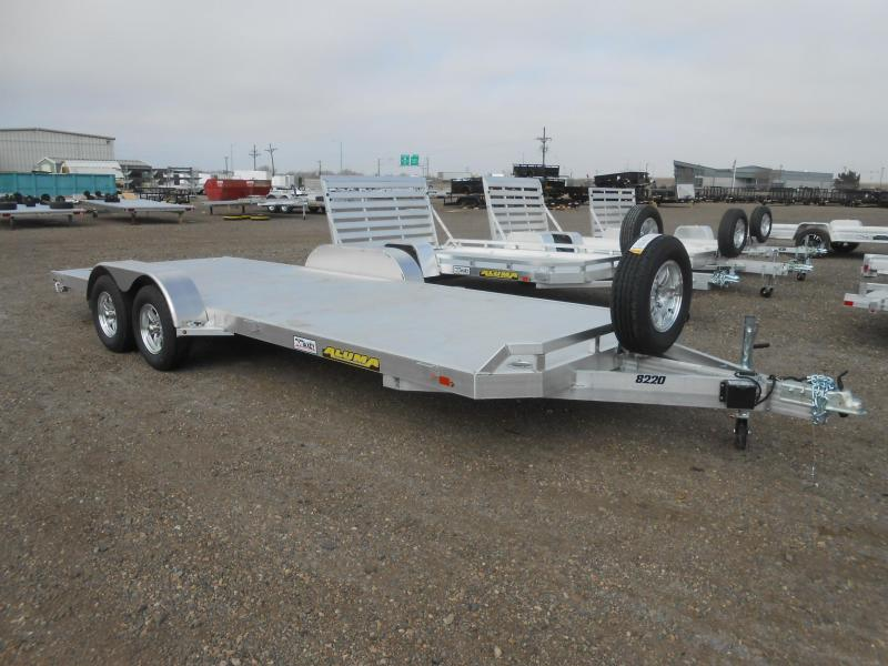 2021 Aluma 8220H All Aluminum Car / Racing Trailer
