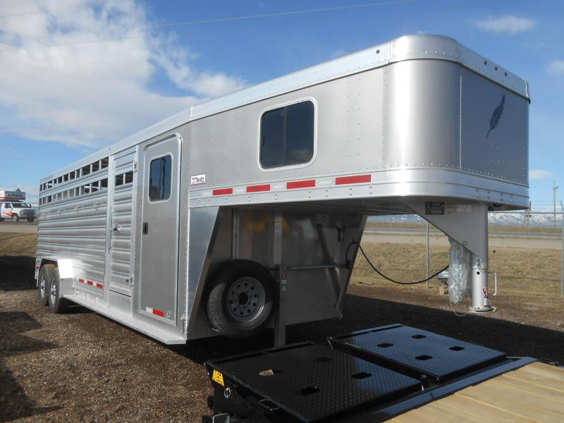 2020 Featherlite 8413-24ft Aluminum Stock Combo Livestock Trailer
