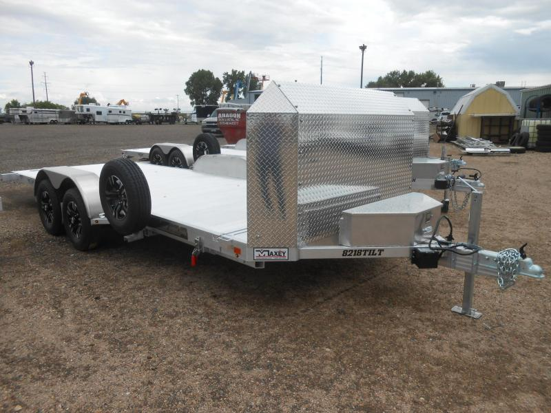 2021 Aluma 8218ANV-TILT All Aluminum Anniversary Edition Tilt Deck Car / Racing Trailer