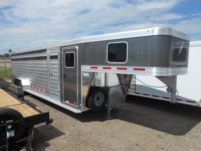 2022 Featherlite 8413-28ft Aluminum Stock Combo Livestock Trailer