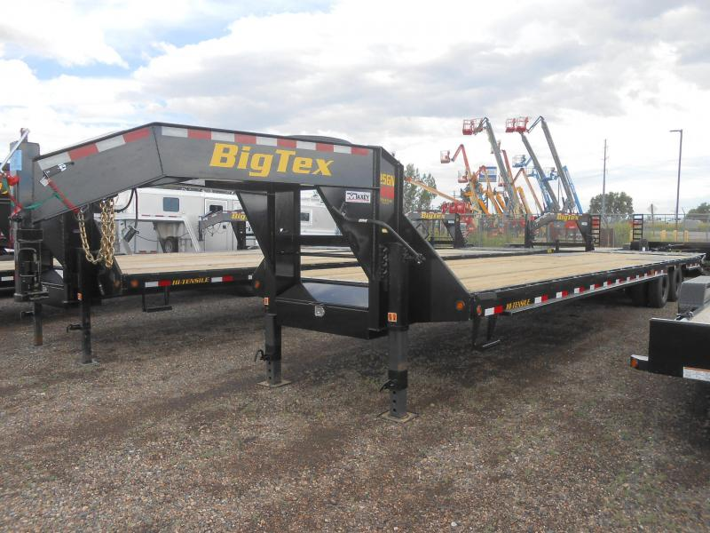 2020 Big Tex 25GN-35+5MR Gooseneck Flatbed Trailer w/ MEGA RAMPS