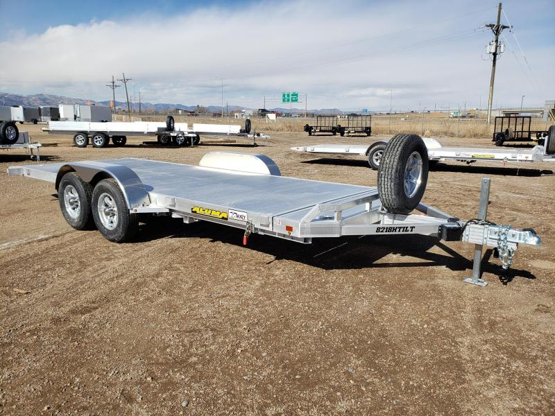 2022 Aluma 8218H-TILT Aluminum Car / Racing Trailer