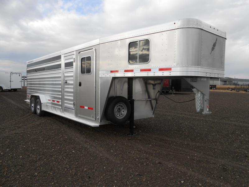 2022 Featherlite 8413-24ft Aluminum Stock Combo Livestock Trailer