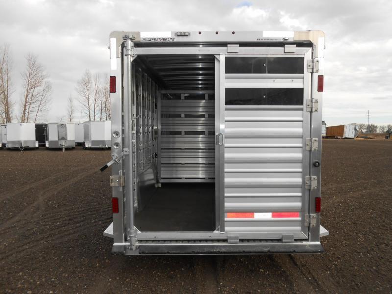 2022 Featherlite 8413-24ft Aluminum Stock Combo Livestock Trailer