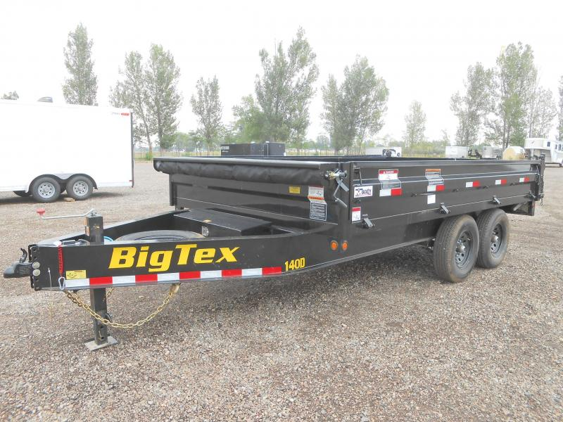 2021 Big Tex Trailers 14OD-14 Deck-Over Fold Down Sides Dump Trailer