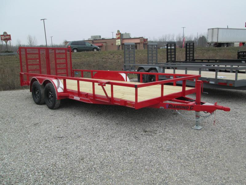 "2021 16'+2'x83"" 7K Diamond C GTU235 Equipment Trailer. 40370"