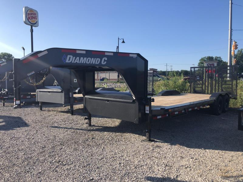 "2020 22'+2'x102"" 14.9K Diamond C EQT207 Gooseneck Equipment Trailer. 30624"