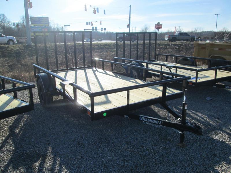 2021 12x77 Diamond C Utility Trailer. 40956