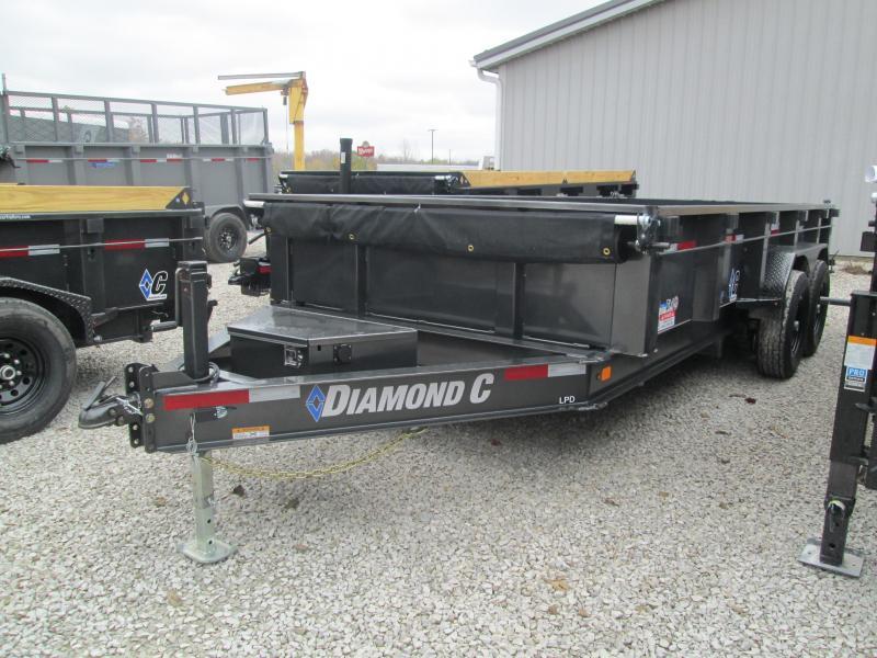 2021 16x82 14.9K Diamond C LPD207 Dump Trailer. 36385