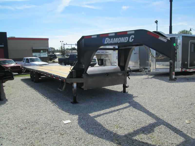 "2020 FMAX 207MR 25'+5'x102"" 15.5K Diamond C Engineered Beam Equipment Trailer. 32655"