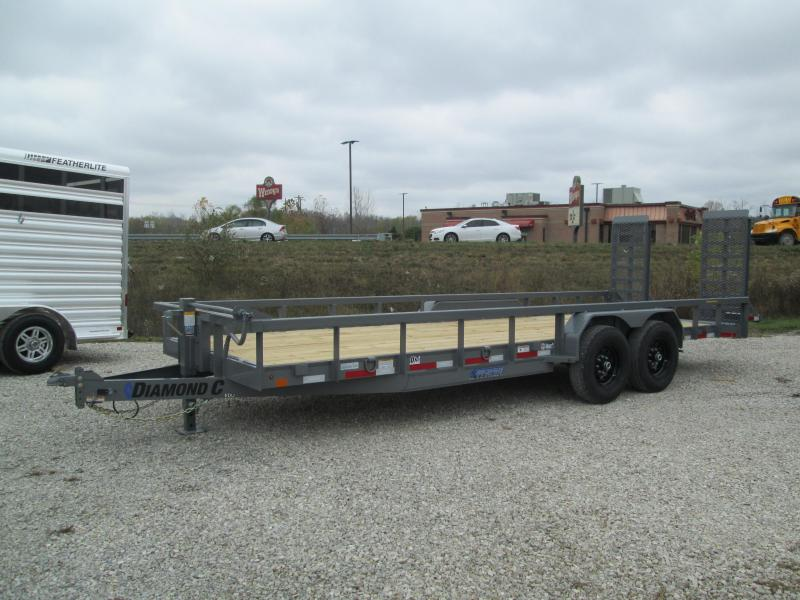 "2021 20'+2'x82"" 14.9K Diamond C EDU207 Utility Trailer. 35738"