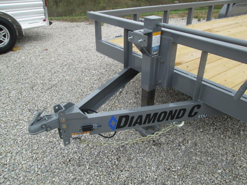 "2021 20'+2'x82"" 14.9K Diamond C EDU207 Utility Trailer. 35738"