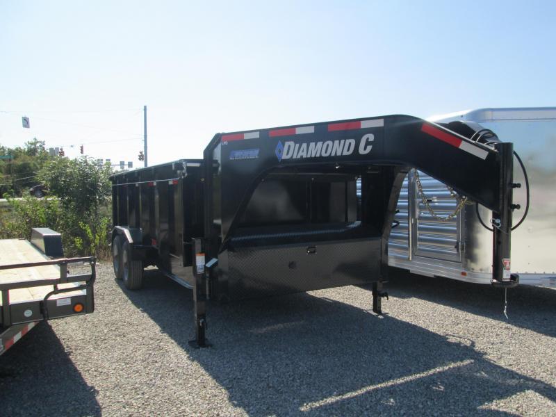 2021 16x82 20K Diamond C LPD210 Gooseneck Dump Trailer. 34441