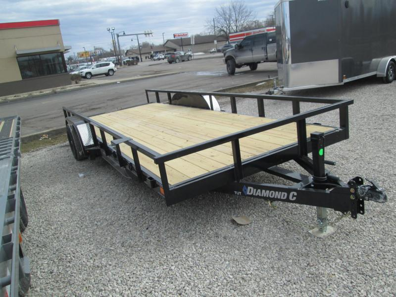 "2021 18'+2'x82"" 10K Diamond C TUT252 Utility Trailer. 42737"