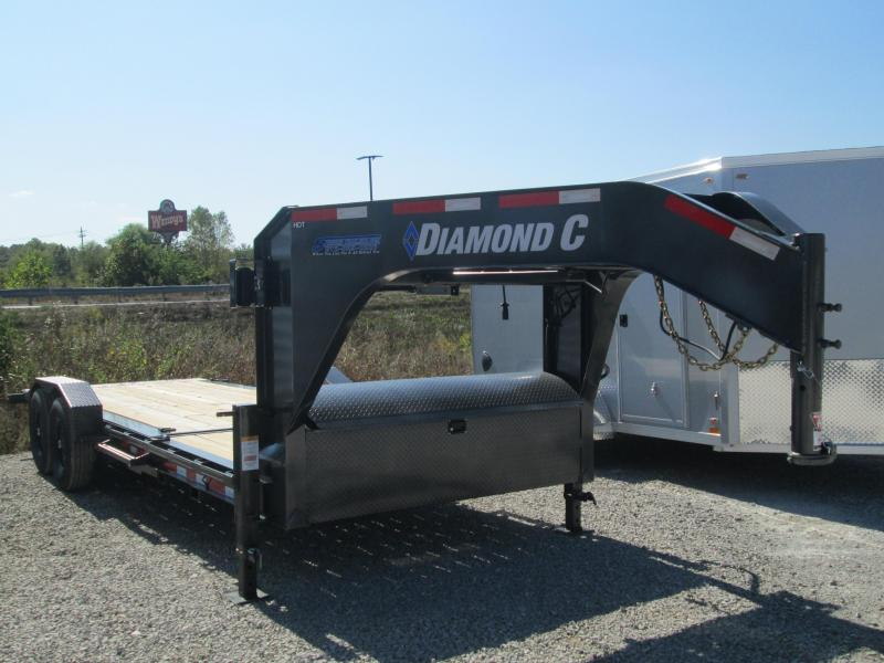 "2021 16'+6'x82"" 14.9K Diamond C HDT207 Split Deck Tilt Gooseneck Equipment Trailer. 33406"