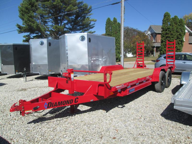 "2021 18'+2'x82"" 14.9K Diamond C EQT207 Equipment Trailer. 35734"