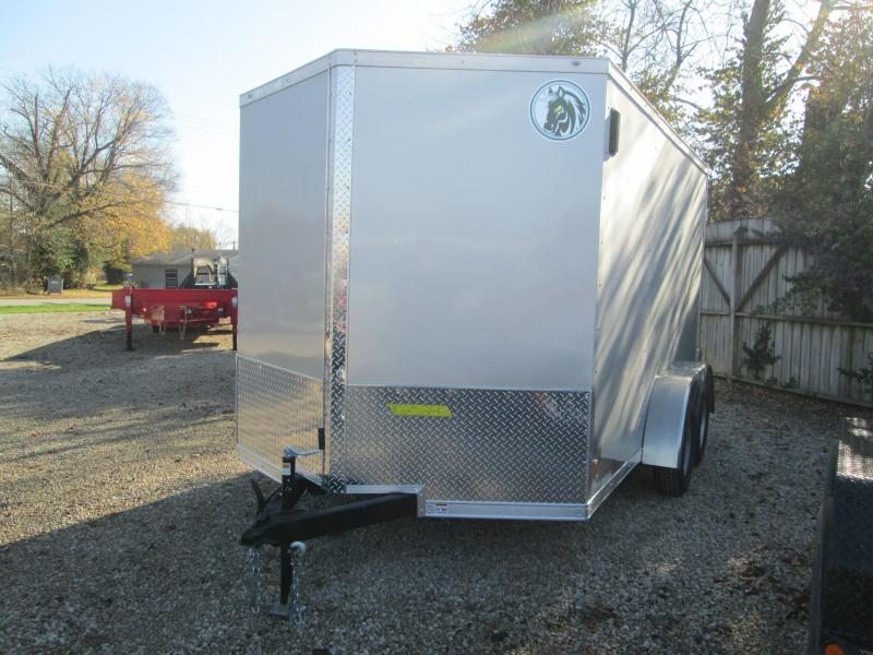 2021 7x12 7K Darkhorse Enclosed Cargo Trailer. 102524