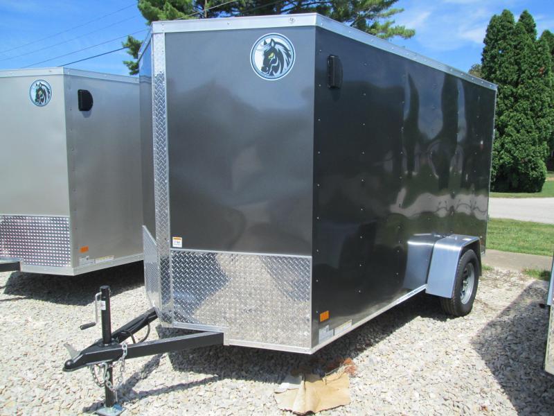 2021 6x12 Darkhorse Enclosed Cargo Trailer. 1419