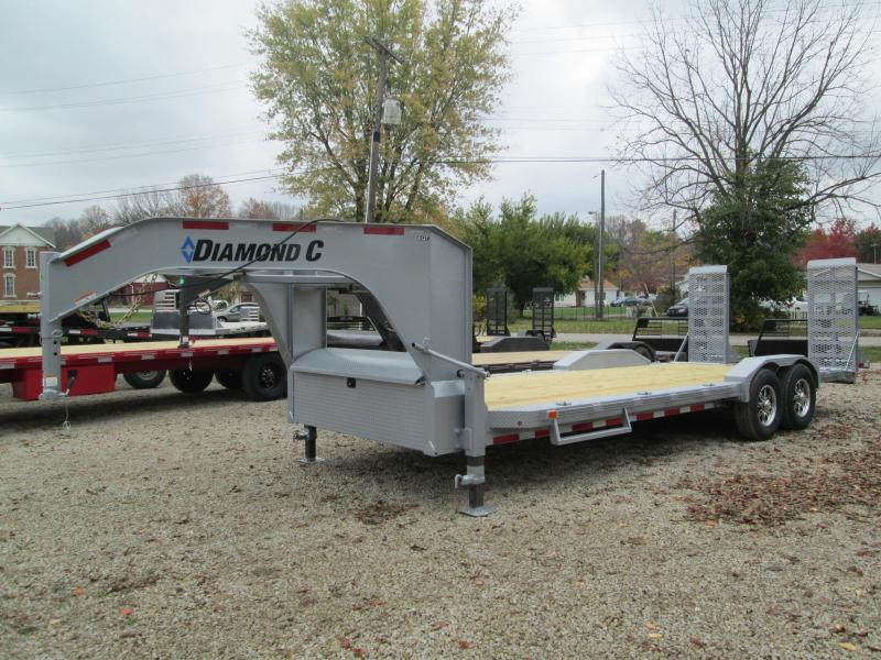 2021 20+2x82 14.9K Diamond C EQT207 Gooseneck Equipment Trailer. 36678