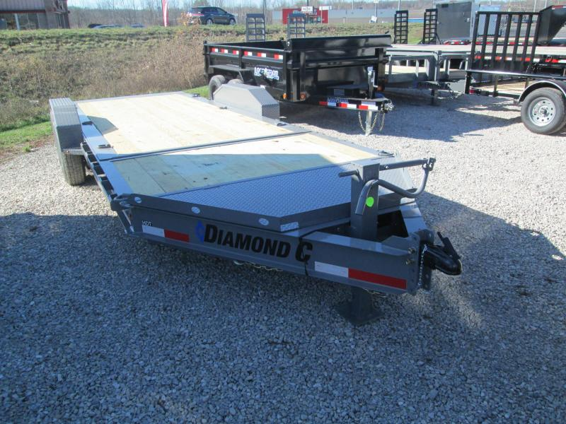 "2021 16'+4'x82"" 14.9K Diamond C HDT207 Equipment Trailer. 37950"