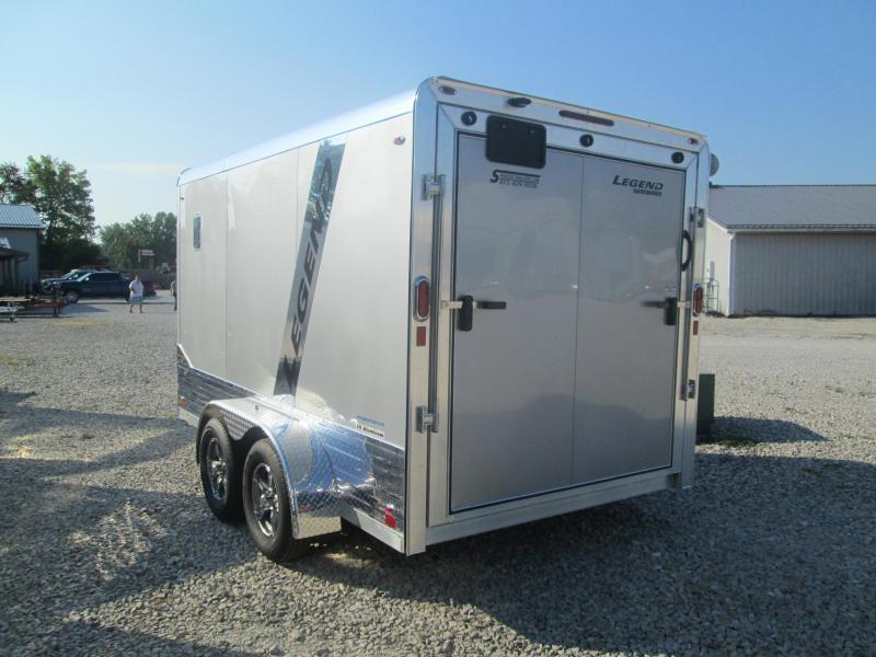 2021 7x12'+V-Nose 7K Legend DVN Enclosed Cargo Trailer. 17001