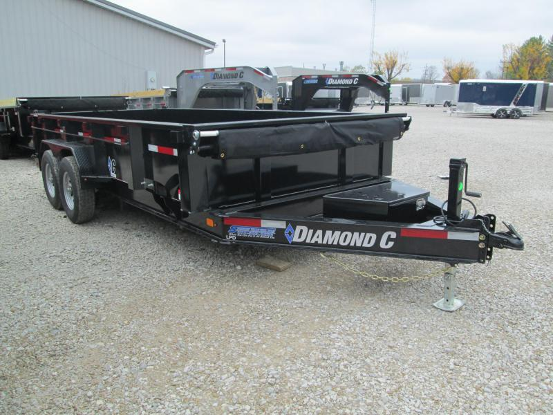 2021 16x82 14.9K Diamond C LPD207 Dump Trailer. 35579