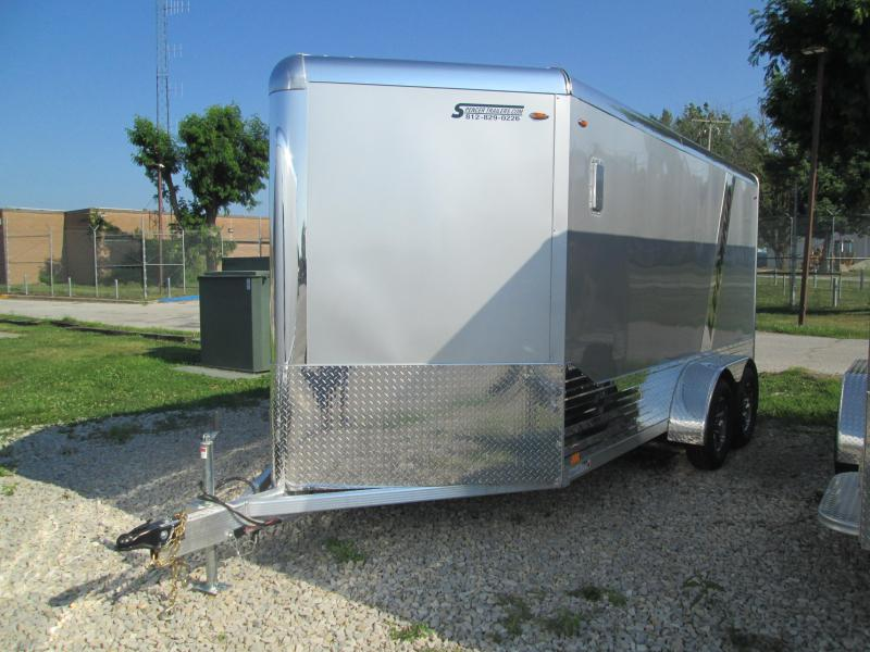 2021 7x14'+V-Nose 7K Legend DVN Enclosed Trailer. 17493
