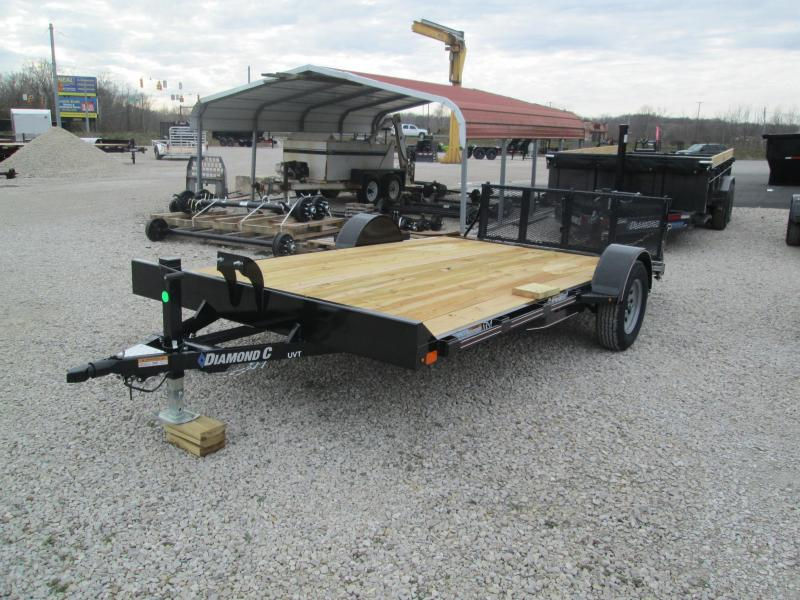 2021 14x83 Diamond C UVT135 Utility Trailer. 37369